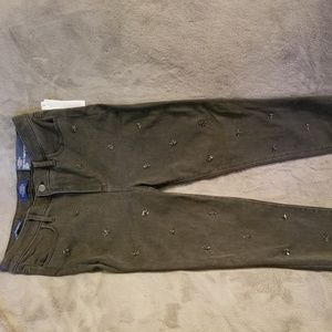 Talbots Black Jeggings w/Embellishing